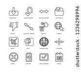 set of 16 user interface linear ...   Shutterstock .eps vector #1236298996