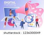 digital marketing research... | Shutterstock .eps vector #1236300049