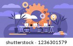 coworking vector illustration.... | Shutterstock .eps vector #1236301579