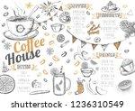 christmas menu. restaurant menu. | Shutterstock . vector #1236310549
