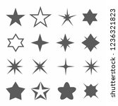 star icon set on white...
