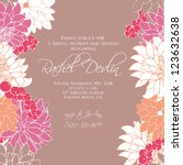 wedding card or invitation with ... | Shutterstock .eps vector #123632638