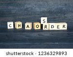 words chaos and order made of... | Shutterstock . vector #1236329893