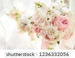 wedding decor. bright pink rose ... | Shutterstock . vector #1236332056