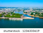 deutsches eck or german corner... | Shutterstock . vector #1236333619