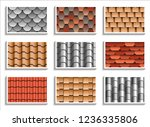 Set Of Seamless Roof Tiles...
