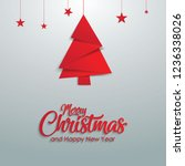 merry christmas and happy new... | Shutterstock .eps vector #1236338026