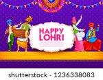 illustration of happy lohri...   Shutterstock .eps vector #1236338083