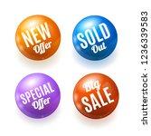 realistic 3d season sale... | Shutterstock . vector #1236339583