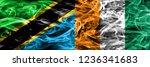 tanzania vs ivory coast smoke... | Shutterstock . vector #1236341683