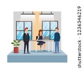 group of business people in the ... | Shutterstock .eps vector #1236346219