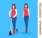 couple women standind together... | Shutterstock .eps vector #1236347236