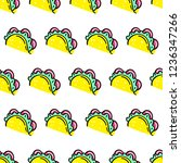 seamless vector pattern with... | Shutterstock .eps vector #1236347266