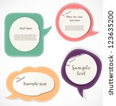 speech bubbles | Shutterstock .eps vector #123635200