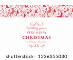 decorative christmas text with... | Shutterstock .eps vector #1236355030