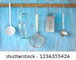 kitchen utensils for commercial ... | Shutterstock . vector #1236355426