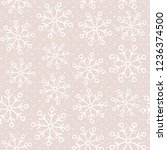 this is a winter seamless... | Shutterstock .eps vector #1236374500