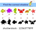 find correct shadow. kids... | Shutterstock .eps vector #1236377899