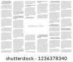 newspaper sample with copy... | Shutterstock . vector #1236378340