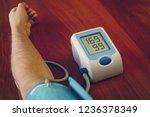 blood pressure digital pulse...   Shutterstock . vector #1236378349