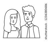 business couple avatars... | Shutterstock .eps vector #1236380686