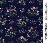 seamless floral pattern with... | Shutterstock .eps vector #1236383620