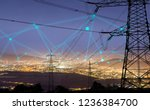 high power electricity poles in ... | Shutterstock . vector #1236384700