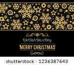 black christmas card with ... | Shutterstock .eps vector #1236387643