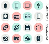 gadget icons set with floppy... | Shutterstock .eps vector #1236388093