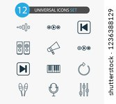 music icons set with...