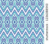 ikat geometric folklore pattern.... | Shutterstock .eps vector #1236388543