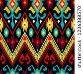 ikat geometric folklore pattern.... | Shutterstock .eps vector #1236388570