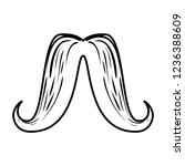 mustache style hipster accessory | Shutterstock .eps vector #1236388609