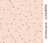seamless heart  pattern... | Shutterstock .eps vector #123638986