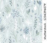 vector hand drawn floral...   Shutterstock .eps vector #1236396079