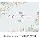 elegant stylish christmas... | Shutterstock .eps vector #1236396283