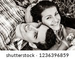 young copule of man and woman... | Shutterstock . vector #1236396859