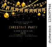 invitation to christmas party... | Shutterstock .eps vector #1236397966