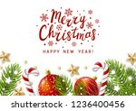 christmas greeting card with... | Shutterstock .eps vector #1236400456