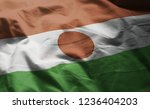 niger flag rumpled close up  | Shutterstock . vector #1236404203