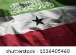 somaliland flag rumpled close... | Shutterstock . vector #1236405460