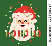 retro style christmas card with ... | Shutterstock .eps vector #1236406369