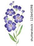 flax flower | Shutterstock . vector #123641098