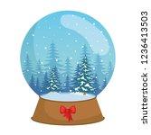day snowscape scene in sphere... | Shutterstock .eps vector #1236413503