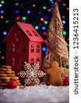 gingerbread cookies for... | Shutterstock . vector #1236415213