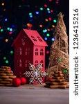 gingerbread cookies for... | Shutterstock . vector #1236415216