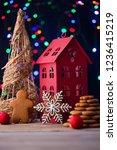 gingerbread cookies for... | Shutterstock . vector #1236415219