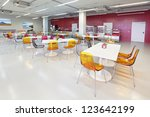 Stock photo the interior of the factory canteen nobody 123642199