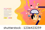 web page design templates for... | Shutterstock .eps vector #1236423259