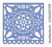 mexican papel picado cutout... | Shutterstock .eps vector #1236432709
